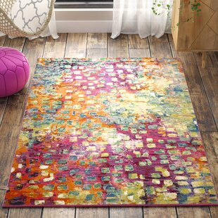 Annabel Loom Pink Green Yellow Area Rug