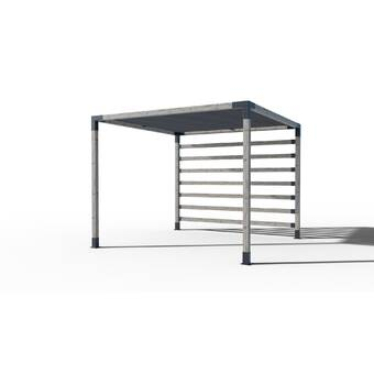TOJA GRID Modular Metal Pergola & Reviews   Wayfair
