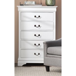 Genial Tina 5 Drawer Wood Chest