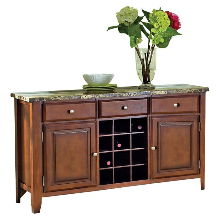 Top Server W Wine Rack: Red Barrel Studio Valholl Sideboard And Wine Rack