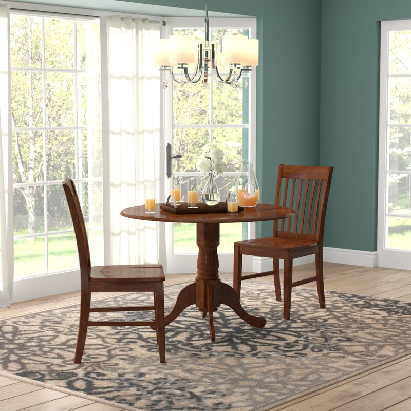1c0945ef05f7a August Grove Spruill 3 Piece Drop Leaf Dining Set   Reviews