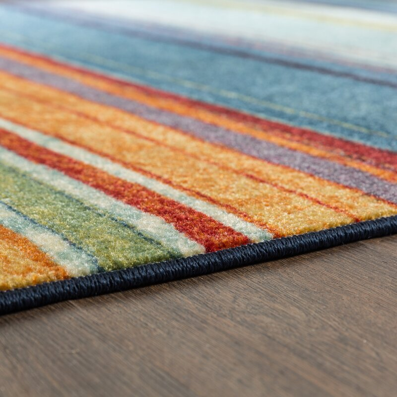 Bartlett Las Cazuela Blue Orange Area Rug Amp Reviews