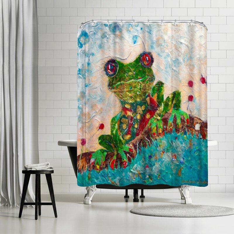 Sunshine Taylor Frog Shower Curtain