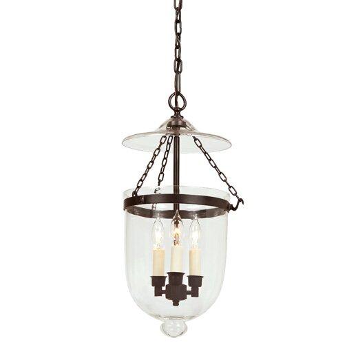 3-Light Urn Pendant  sc 1 st  Wayfair & JVI Designs 3-Light Urn Pendant u0026 Reviews | Wayfair
