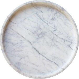 Epsilon Marble Round Tray
