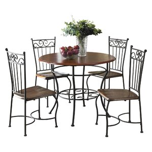 Deschamps 5 Piece Dining Set by Three Posts