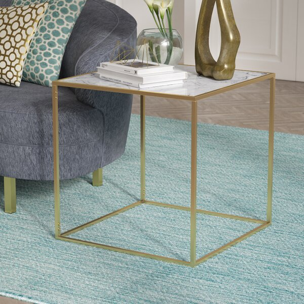 Perfect Willa Arlo Interiors Theydon Faux Marble End Table U0026 Reviews   Wayfair