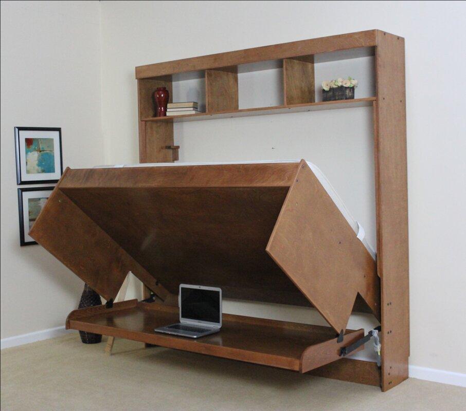 Wallbeds modern birch murphy bed reviews wayfair for Wayfair store