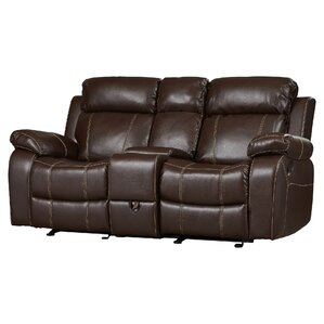 Chestnut Double Gliding Reclining Sofa by Darby Home Co