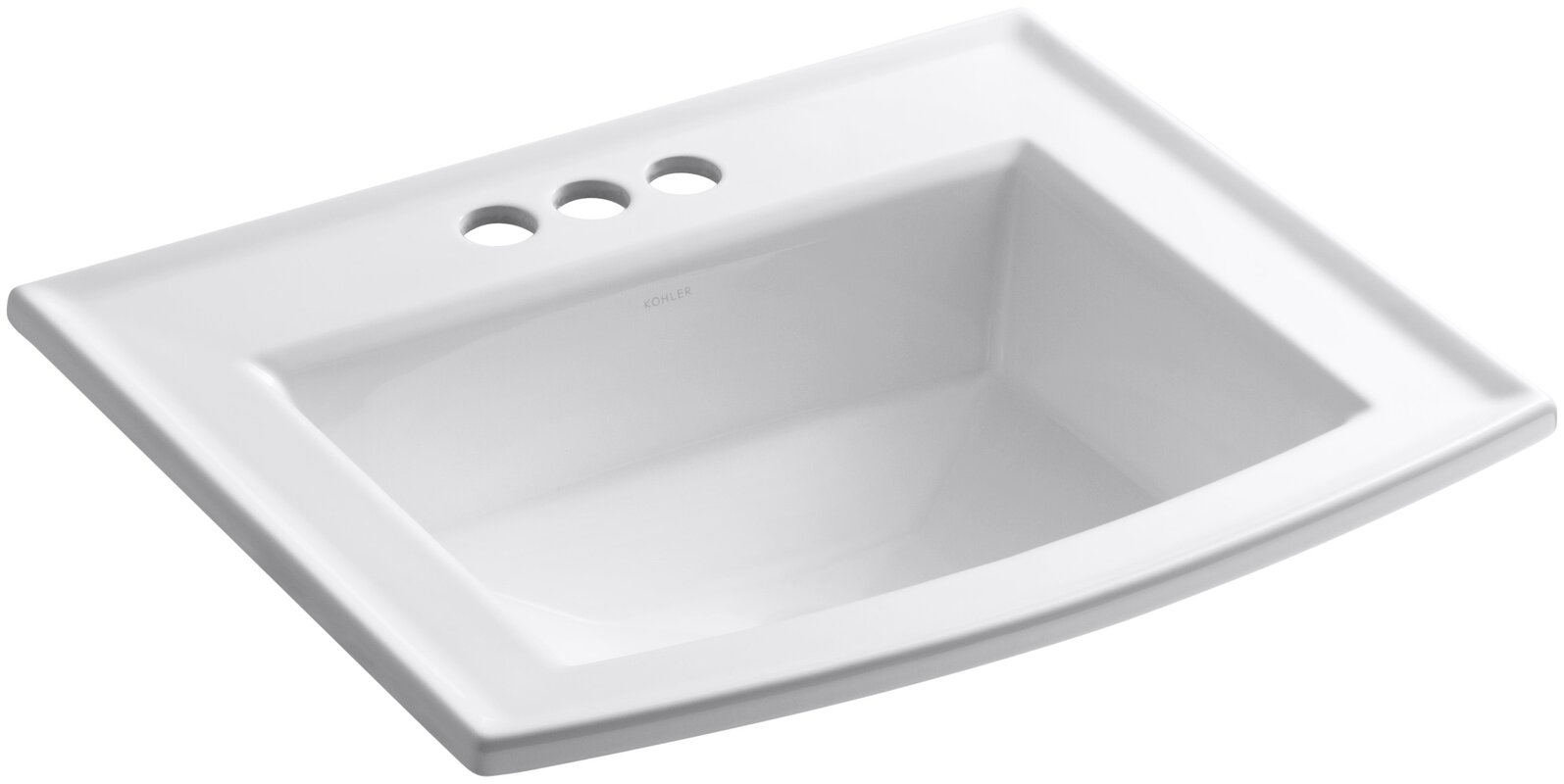 Archer Vitreous China Rectangular Drop In Bathroom Sink With Overflow Reviews Allmodern