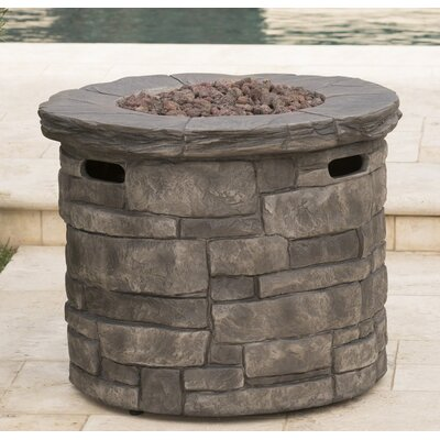 Charmant Cooksey Stone Propane Fire Pit Table