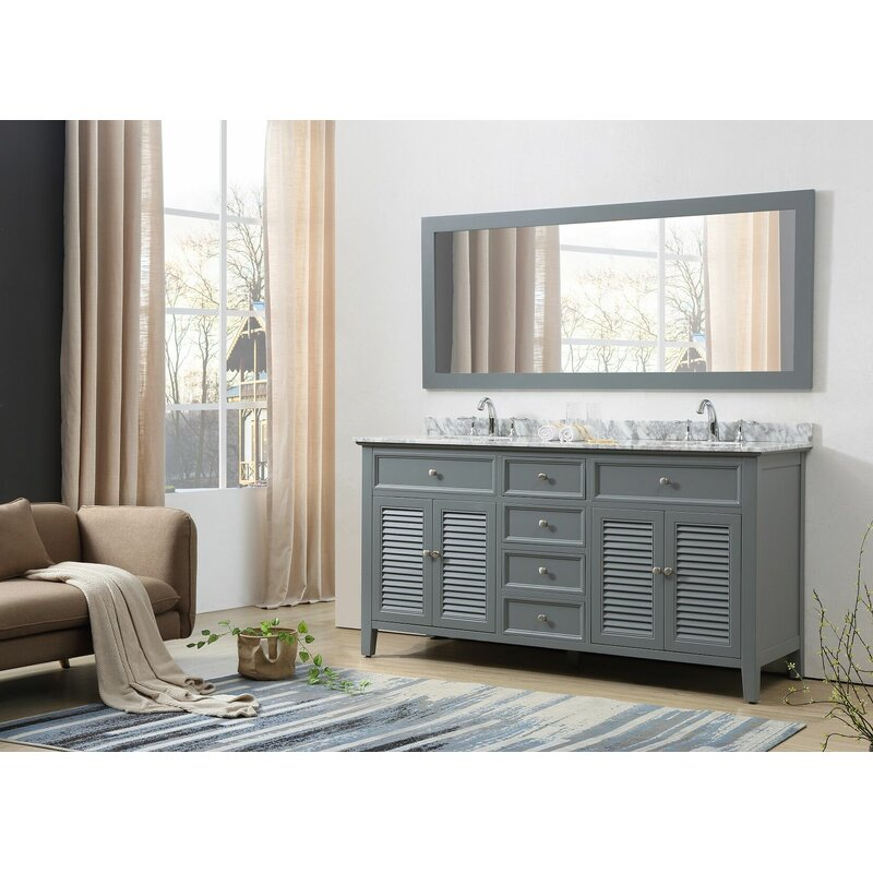 J J International Llc Shutter 70 Double Vanity Set Wayfair