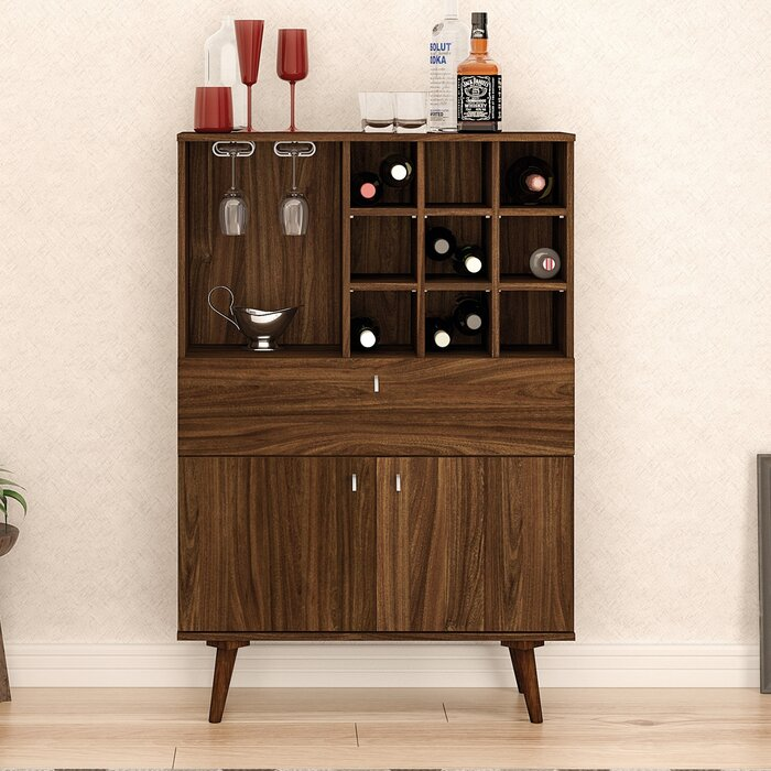 small mid pin cabinet bar century acorn furniture carts and