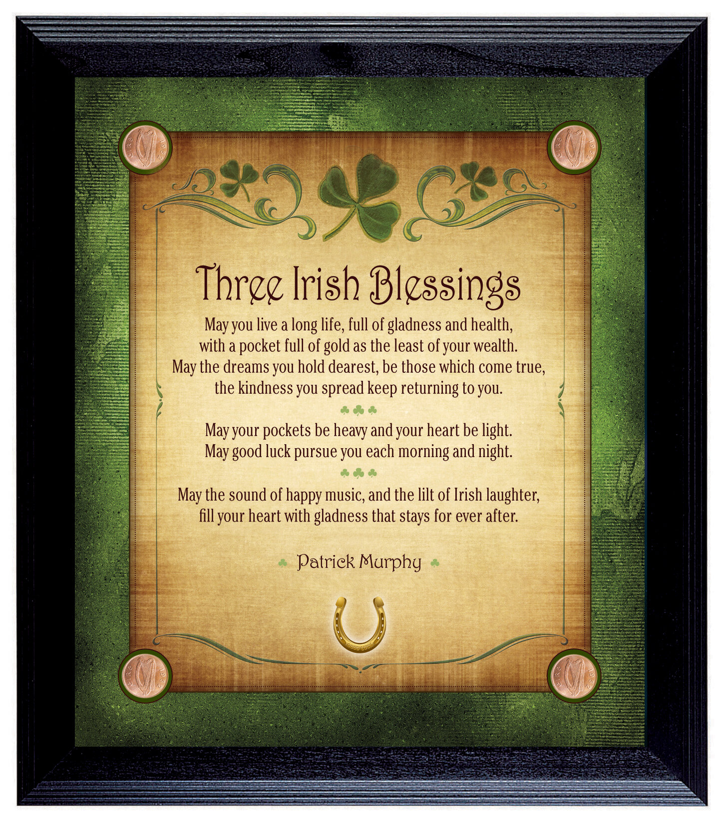 American Coin Treasure Three Irish Blessings Personalized Framed ...