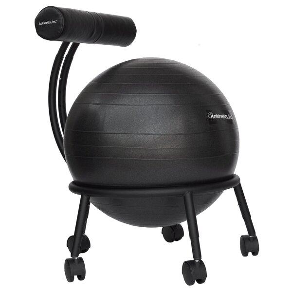 symple stuff high-back exercise ball chair & reviews | wayfair