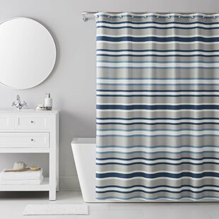 13 Piece Bradley Stripe Shower Curtain Set