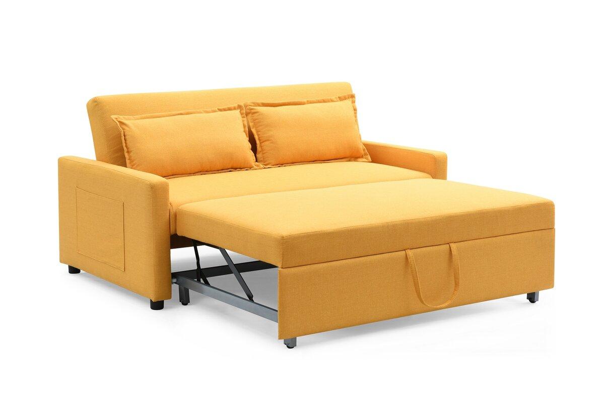 Container Fabric Modern Convertible Sleeper Sofa Reviews Wayfair