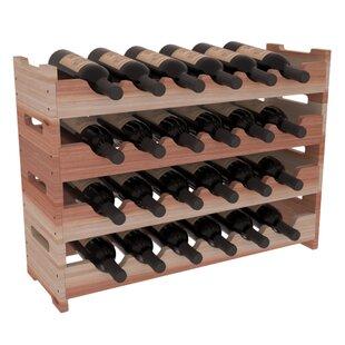 Karnes Redwood Mini Scalloped 24 Bottle Tabletop Wine Rack
