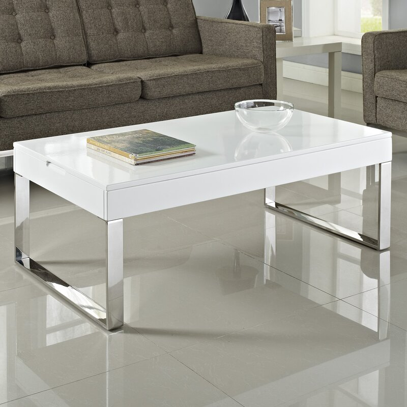 white gloss coffee table Modway Gloss Coffee Table & Reviews | Wayfair white gloss coffee table