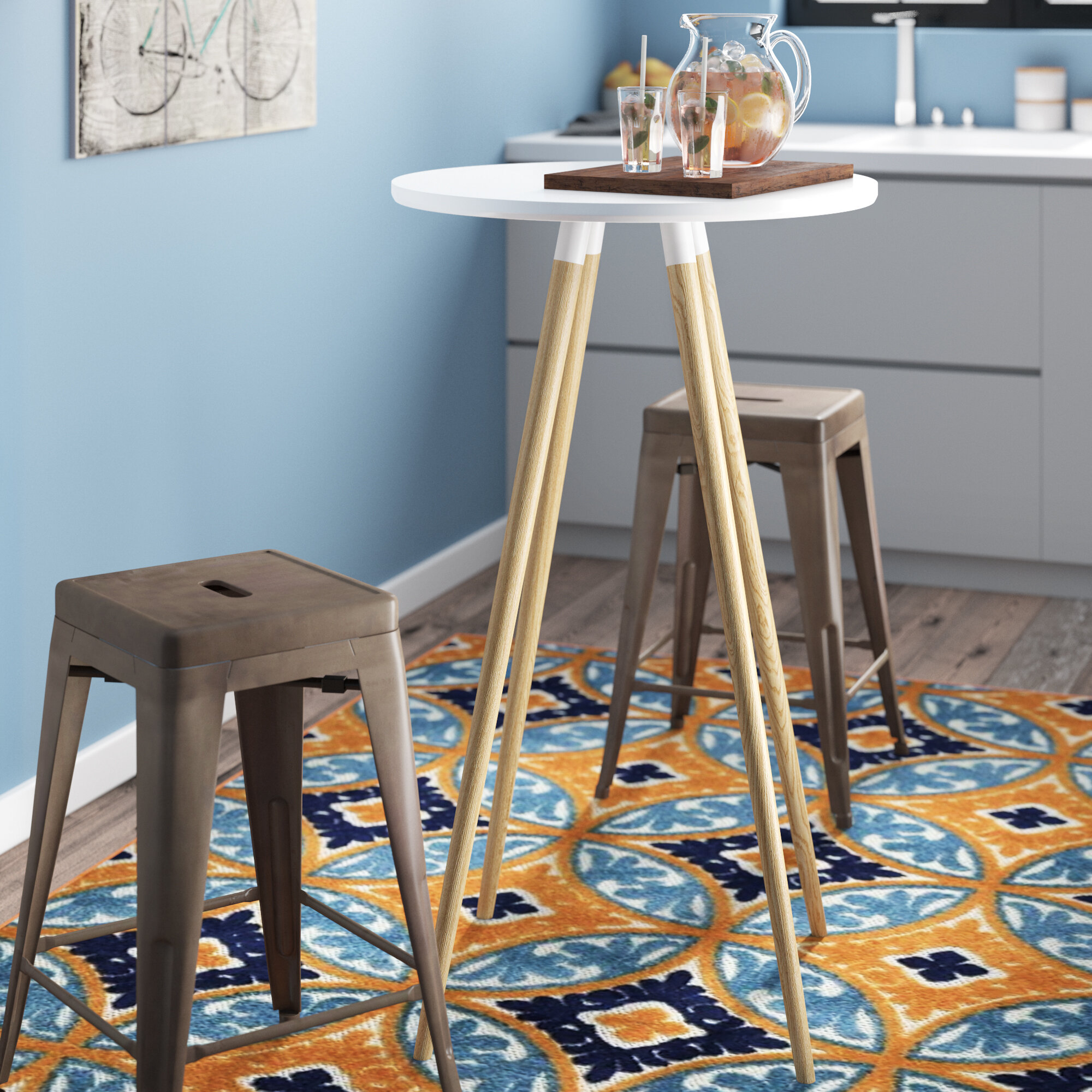 Zipcode Design Lauretta Round Pub Table | Wayfair