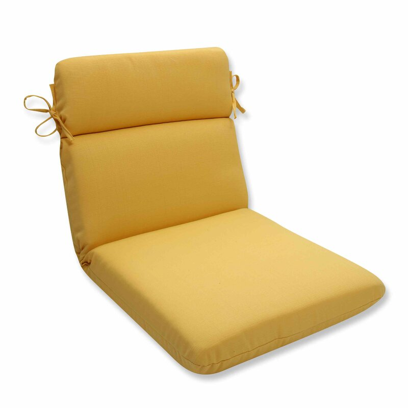 Good Yellow Outdoor Dining Chair Cushion