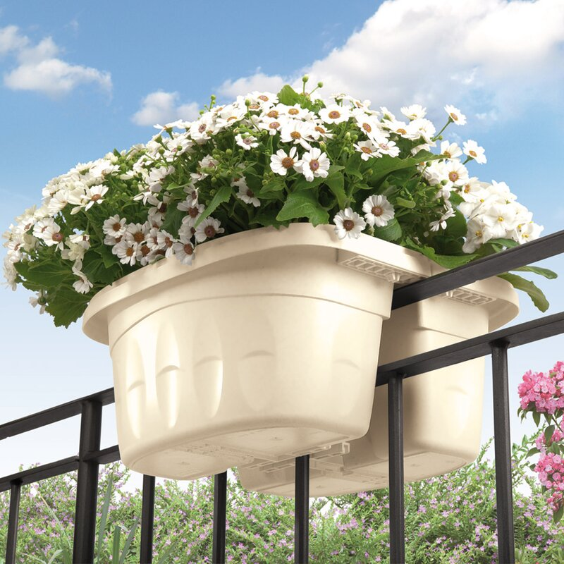 Modern Railing Planters Custom By Rushton: ApolloExportsInternationalInc. Double Sided Adjustable