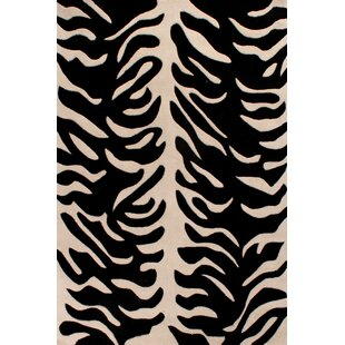 Hand-Woven White/Black Area Rug by Longweave