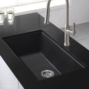 Éviers de cuisine en granite: Finition - Noir | Wayfair.ca