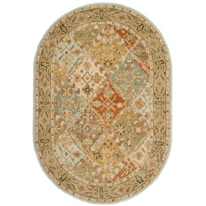 Albert Hand-Tufted Light Blue/Light Brown Area Rug