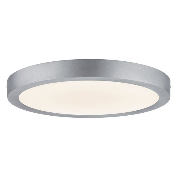 paulmann lunar 1 light led flush ceiling light wayfair co uk