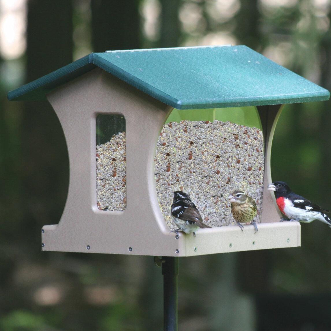 Birds Choice 4 Gallon Recycled Hopper Bird Feeder   Wayfair