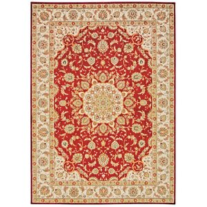 Babylon Ancient Times Palace Red/Beige Area Rug