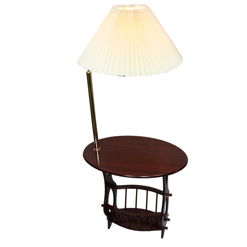 Darby home co portersville floor lamp end table magazine rack portersville floor lamp end table magazine rack combination aloadofball Gallery