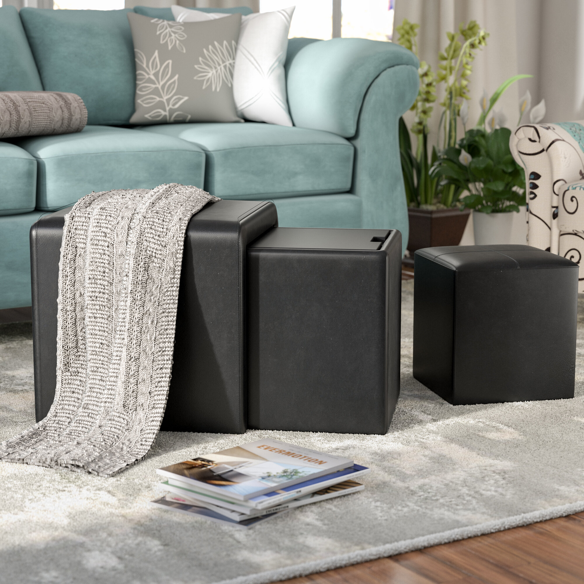 Delicieux Andover Mills Lamberth 4 Piece Multi Functional Storage Ottoman Set U0026  Reviews | Wayfair
