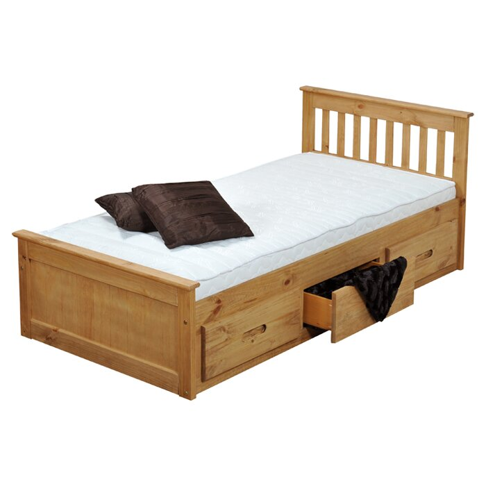 Just Kids Single Cabin Mate\'s and Captain\'s Bed Frame with Storage ...