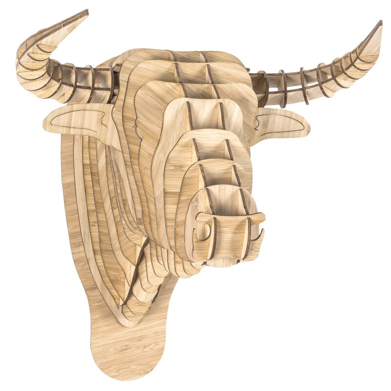 Antler Home Toro the Bamboo Bull Head Wall Décor | Wayfair