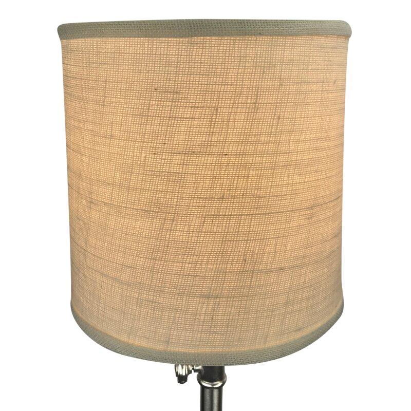 Fenchel shades 10 burlap drum lamp shade reviews wayfair 10 burlap drum lamp shade aloadofball Choice Image