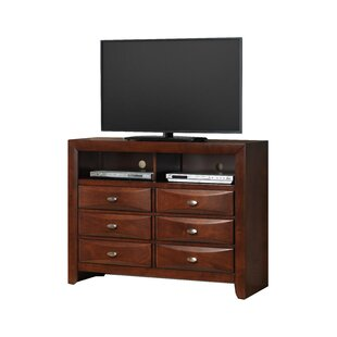 Superb Plumwood Fully Assembled 6 Drawer TV Chest