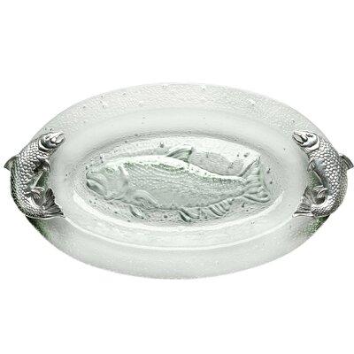 Arthur Court Coastal Salmon Glass Platter