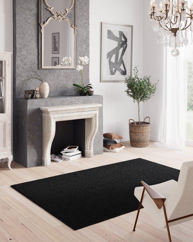 longweave waschbarer teppich thadine in schwarz bewertungen. Black Bedroom Furniture Sets. Home Design Ideas