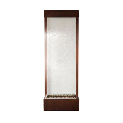Bluworld Gardenfall Metaline Metal/Glass Center Mount Fountain Size: Large, Frame Color: Dark Copper