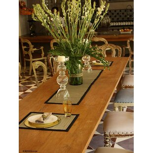 5 Piece Weaves Mendong Table Runner And Placemat Set
