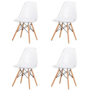 Paula Modern Retro Solid Wood Dining Chair (Set of 4) by Corrigan Studio
