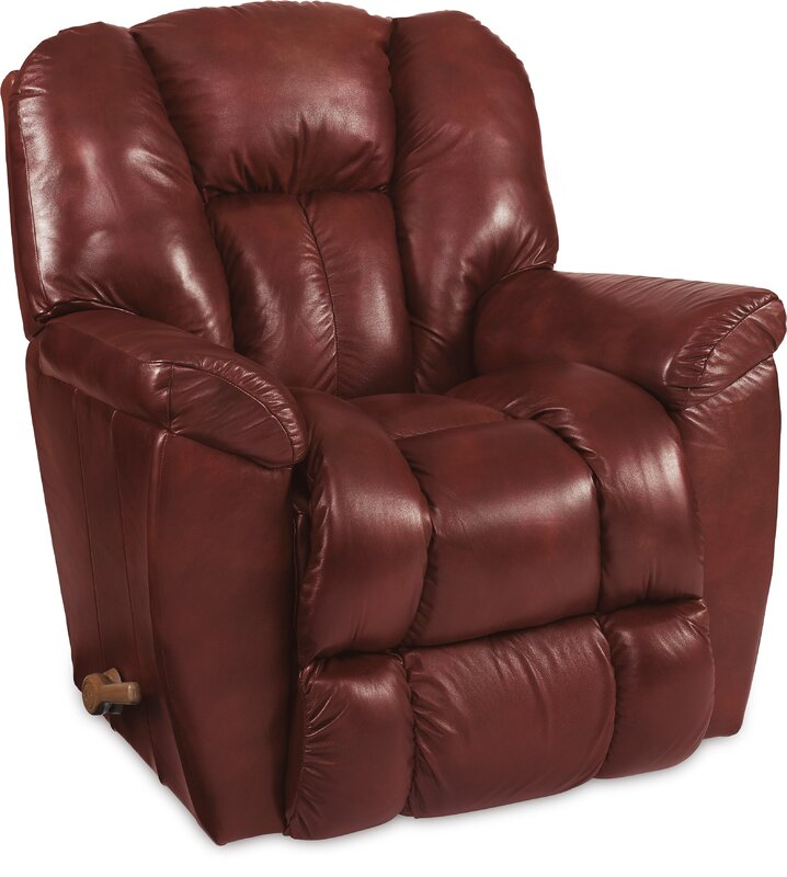 Maverick Leather Recliner  sc 1 st  Wayfair : real leather recliner swivel chairs - islam-shia.org