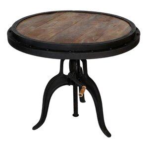 Reclaimed Wood Crank Industrial Adjustable Pub Table by Porter International Designs