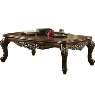 Superbe Jayla Intricately Carved Wooden Coffee Table