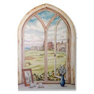 St. Andrewu0027s Golf Course Faux Window Scene Wall Plaque  sc 1 st  Wayfair & Faux Window Scene Wall Art | Wayfair