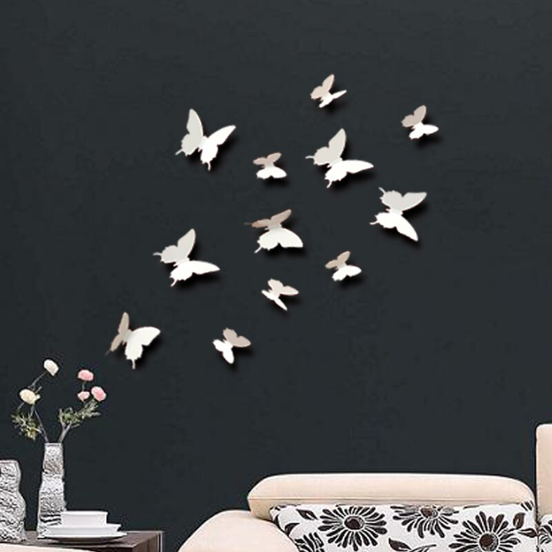 walplus wandtattoos 3d schmetterling bewertungen. Black Bedroom Furniture Sets. Home Design Ideas