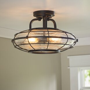 Roberts 3 Light Semi Flush Mount