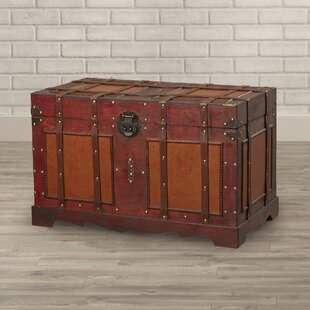 Vintage steamer trunk wayfair zemrane antique style steamer trunk by world menagerie gumiabroncs